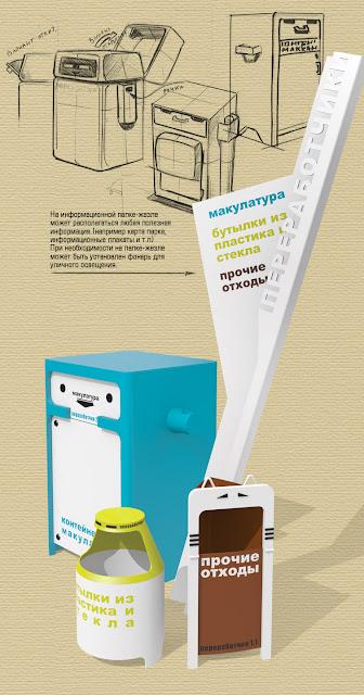 Веселые мусорки для раздельного сбора отходов