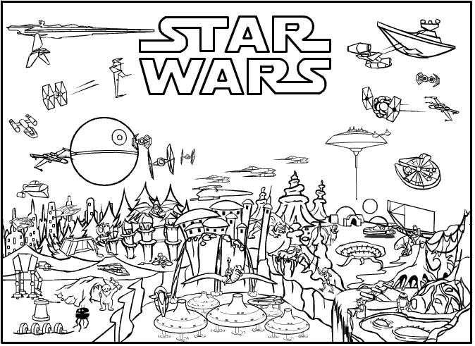 Star Wars Ausmalbilder kostenlos und gratis Malvorlagen - star wars malvorlagen zum ausdrucken