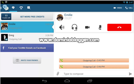 Envia mensajes de audio o video gratis con Text Me