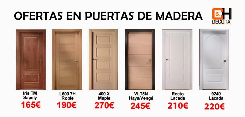 Ofertas en puertas de madera de puertas y cocinas madrid for Puertas de madera en oferta