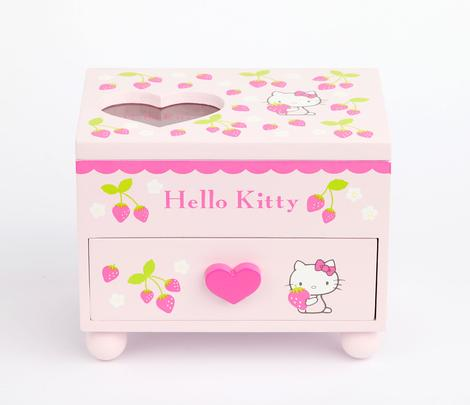 pizza-kei cute pizza kei cute hello kitty new sanrio sanrio.com strawberry collection harajuku kawaii collection plush doll pastel japan japanese mascot home item items jewelry box sweet heart pink