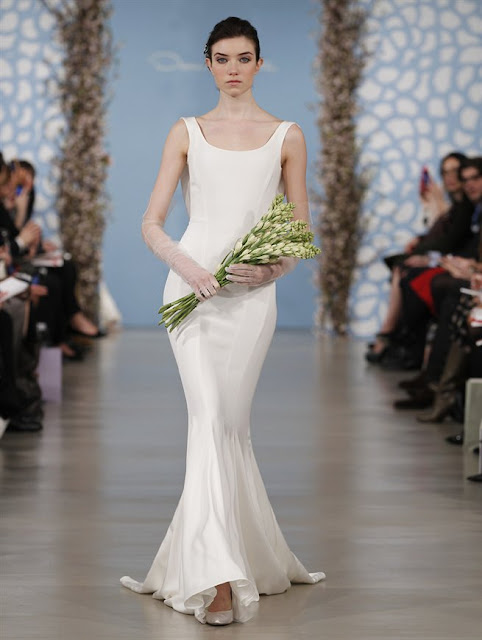 Oscar de la Renta Spring 2014 simple mermaid Wedding Dresses