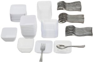 Donu0027t have enough little plates to do a fancy mini appetizer spread? Grab this disposable set for under $12! Buy here - link  sc 1 st  Party Frosting & Party Frosting: Party Food: Mini Appetizers with Tomatoes