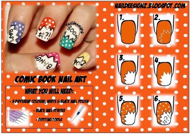 http://naildeesignz.blogspot.co.uk/2013/11/comic-book-nail-art.html