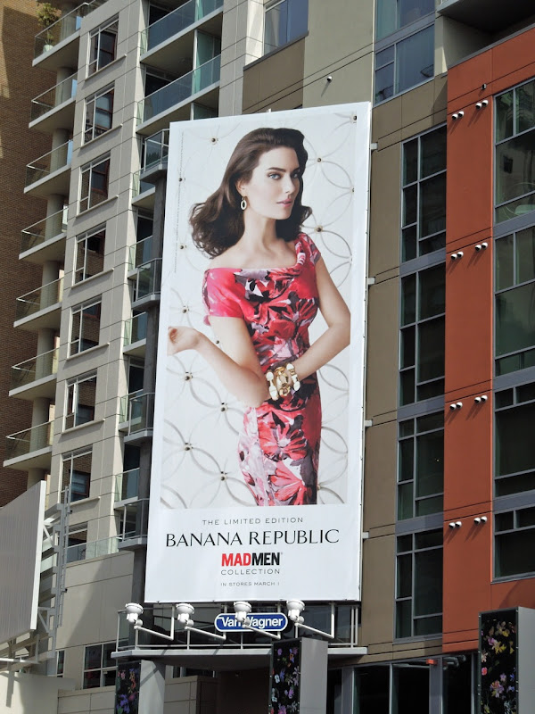 Banana Republic Mad Men 2012 billboard