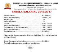Tabela Saalarial 2016/17