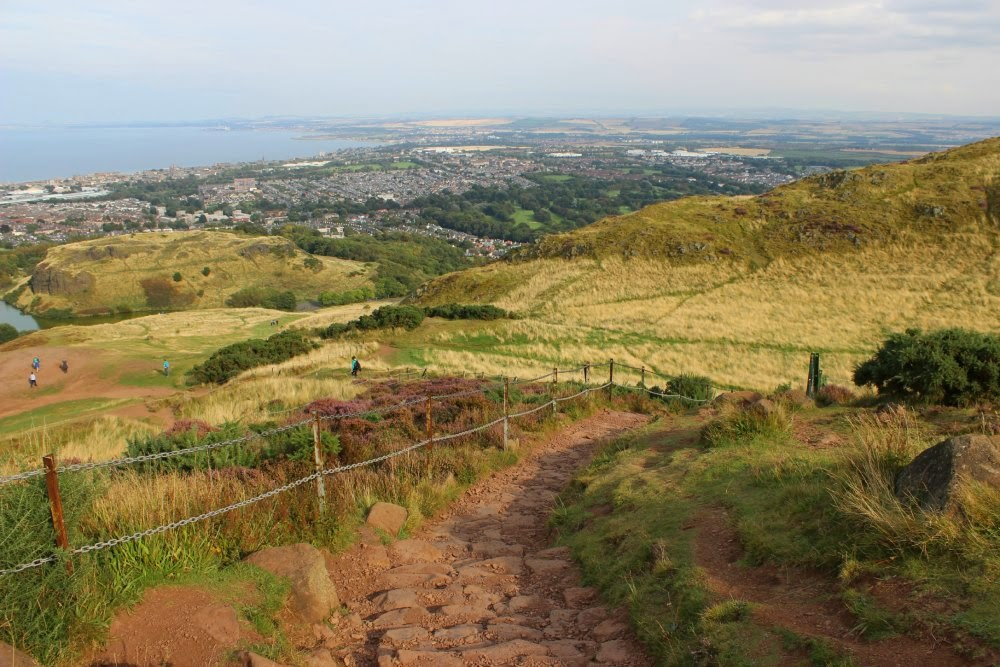 going down arthur's seat, edinburgh, scotland