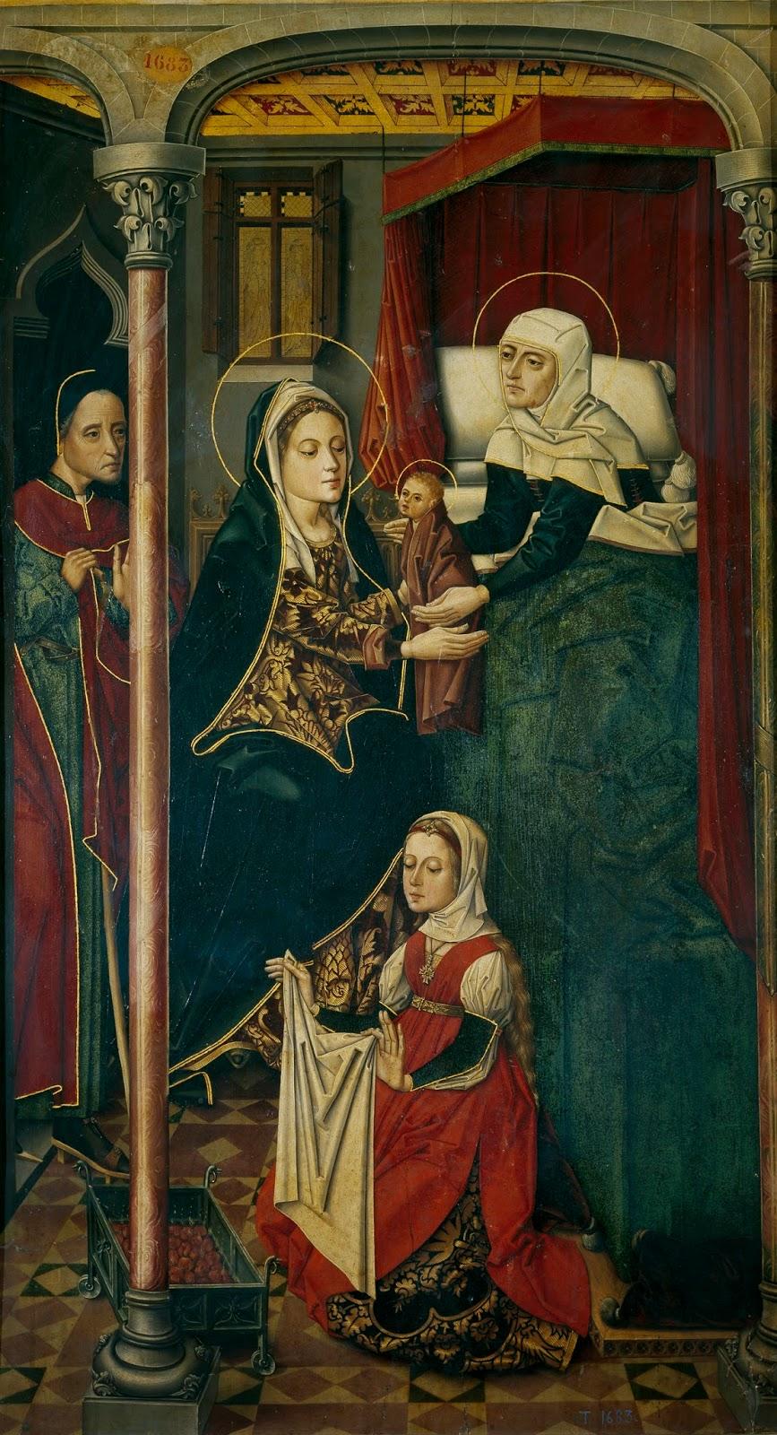 Imágenes: Maestro de Miraflores. El nacimiento de san Juan Bautista
