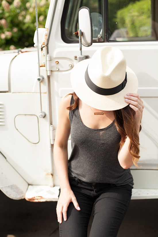 black jeans, panama hat, here&now blog, jesshereandnow, Nashville style blog