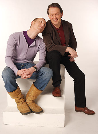 James Hathaway (Lawrence Fox) and Robert Lewis (Kevin Whatley)