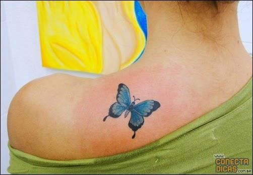 Tatuagem para mulher nas costas pequena