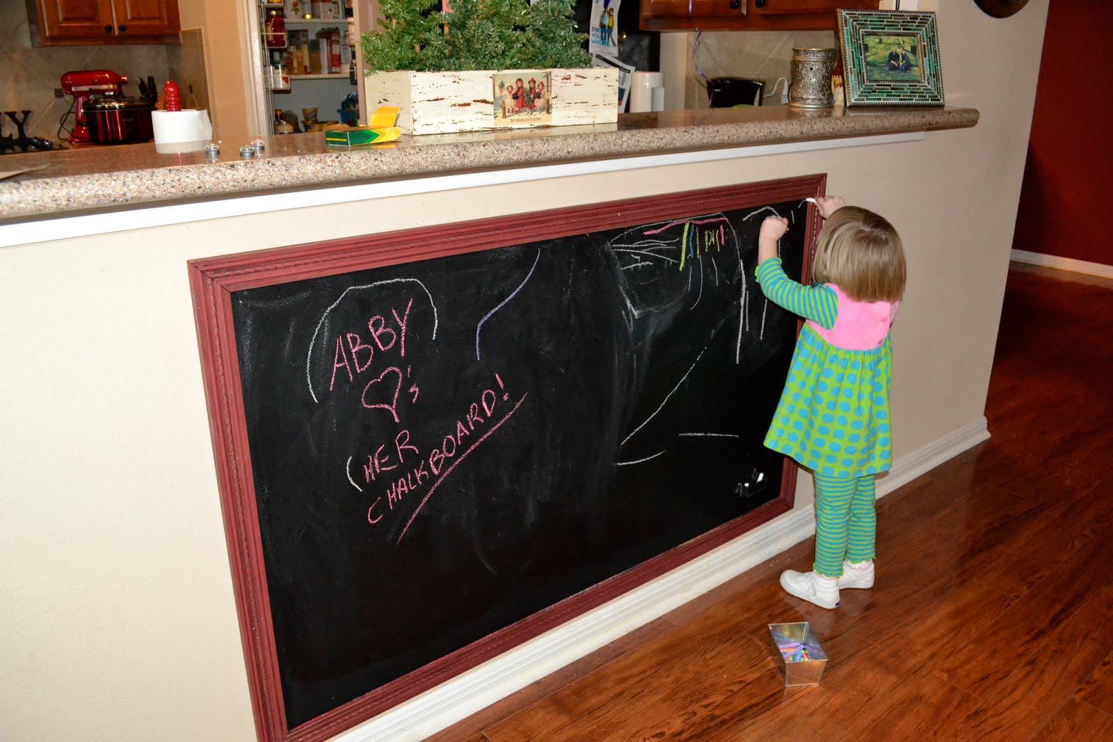 diy large framed chalkboard
