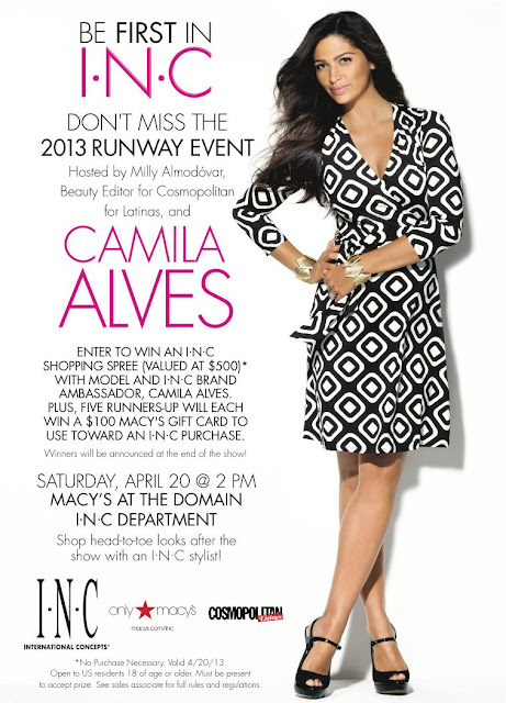 Camila Alves and Cosmo for Latina's Runway Event