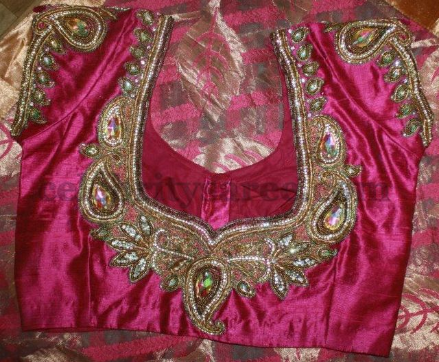 Blouse Patterns for Wedding Sarees