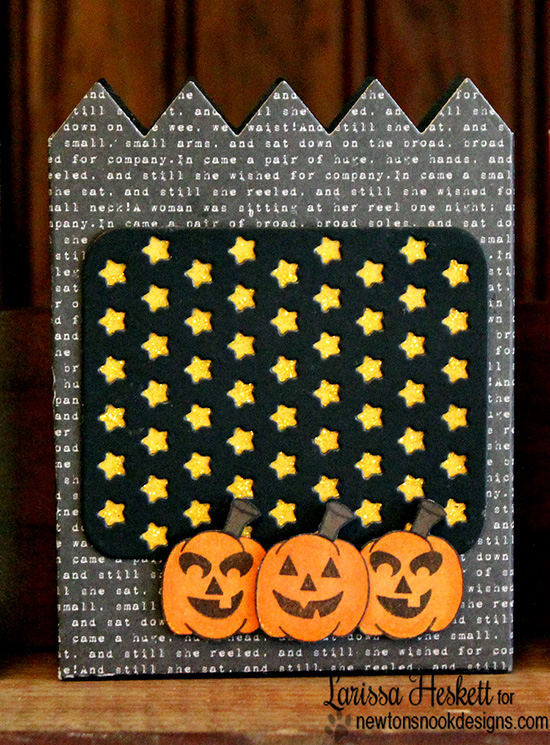 Halloween jack-o-lantern treat Holder by Larissa Heskett for Newton's Nook Designs