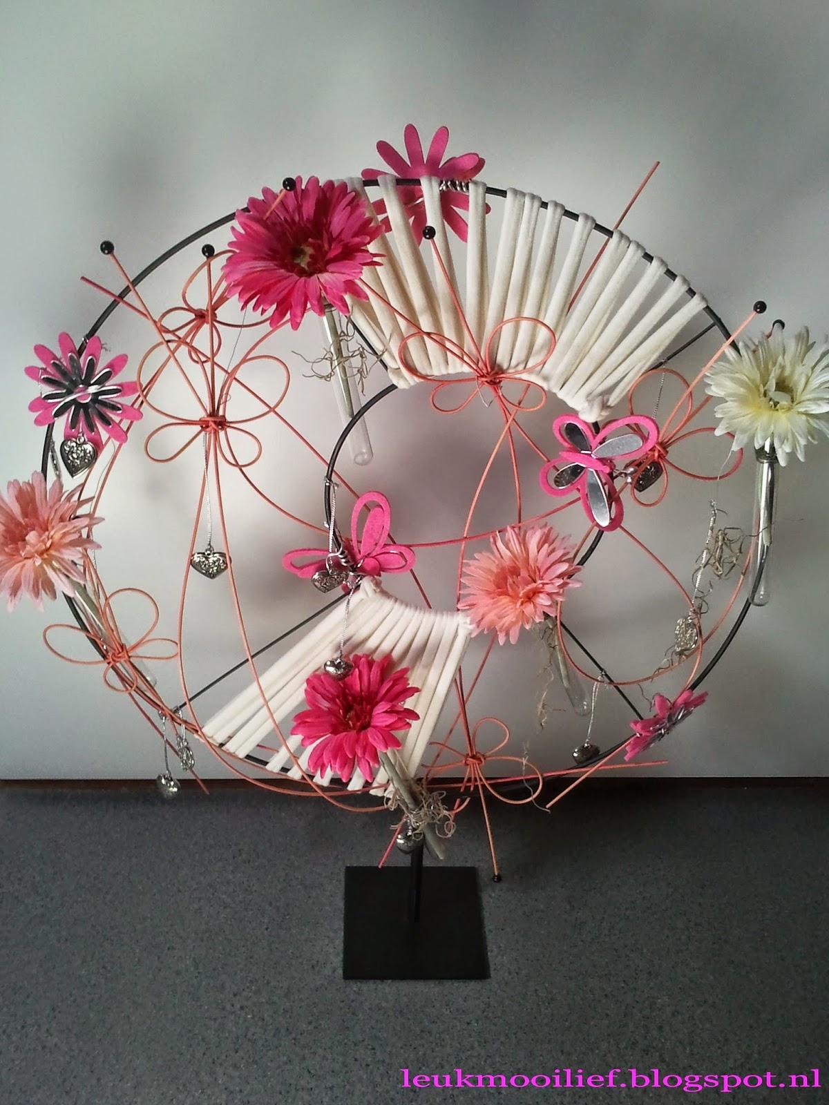 Leuk mooi lief: roze rad