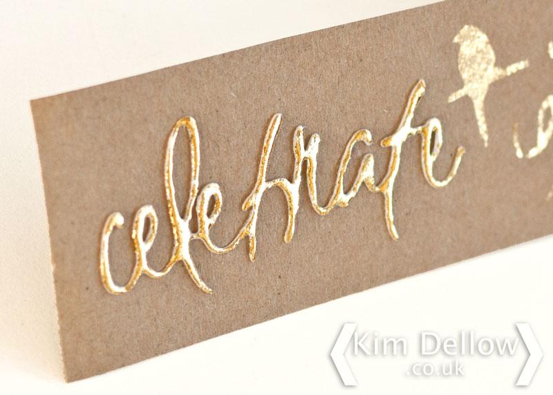 Gold Transfer foil on die-cut 3D foam