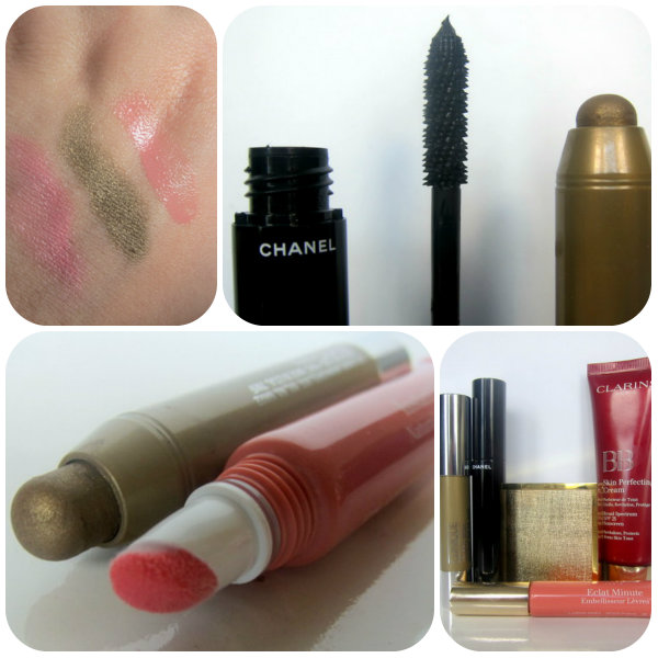 Easy, Foolproof Makeup: Clarins BB Cream, Clarins Instant Light Natural Lip Perfector, Aerin Multi-Colour, Chanel Le Volume Mascara and Clinique Chubby Stick Shadow Tint for Eyes