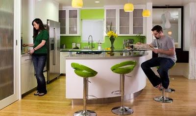 foto cocina con barra