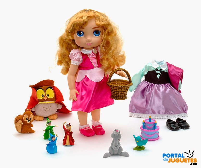 set coleccion aurora disney animators