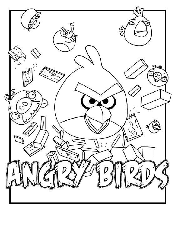 Juego de Angry Birds para colorear