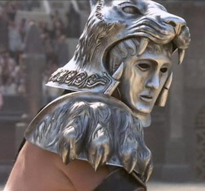 10 cascos y yelmos míticos del cine de acción y fantasia: Gladiator - Tigris