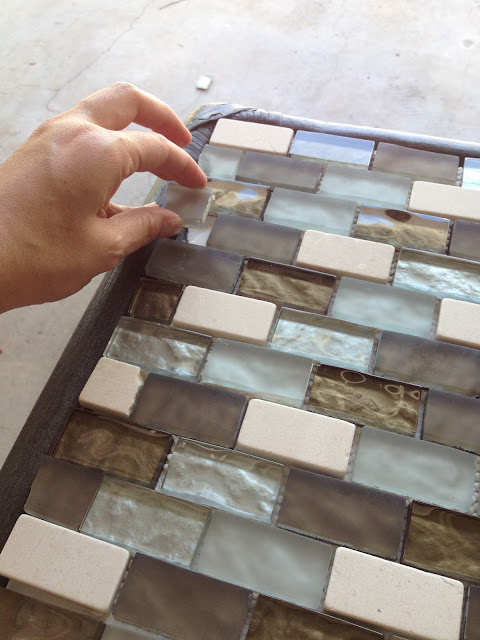 Trash To Treasure - DIY Outdoor Table Tiles