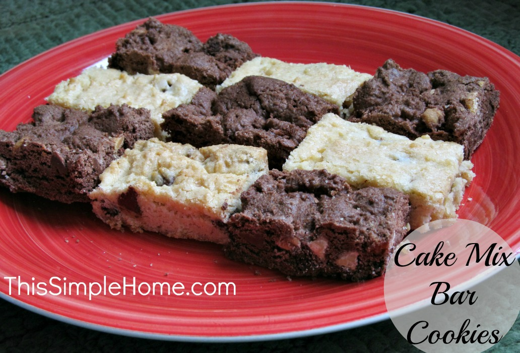 This Simple Home: Cake Mix Bar Cookies