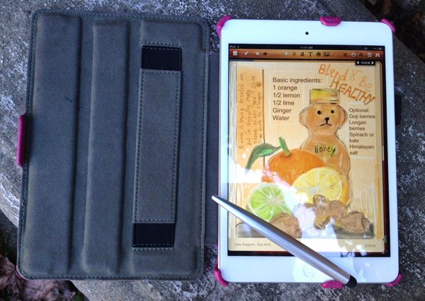 wellness recipe, digital journaling, iPad mini, procreate, Noteshelf