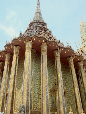 The facade of the Temple of the Emerald Buddha, Bangkok