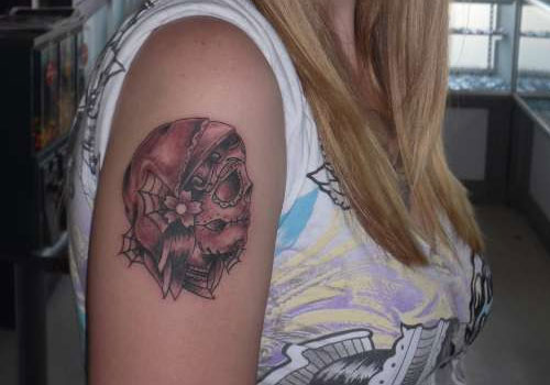 Gypsy sugar skull female tattoofemale tattoos gallery for Female skull tattoos