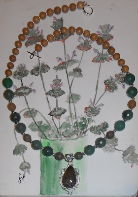 Sterling silver brujaness brujaness's workshop jewelry jasper aventurine green necklace