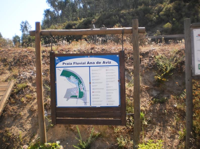 Placa Sinalizadora da Praia Fluvial Ana de Aviz