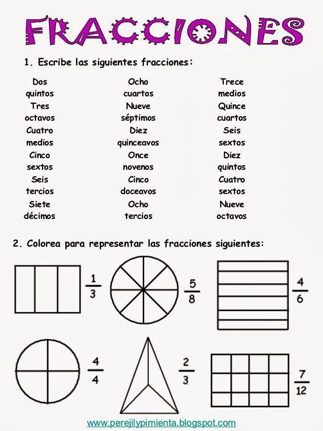 Stunning Problemas De Fracciones De Cuarto De Primaria Photos ...