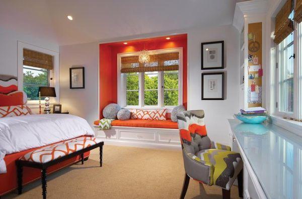 Habitaciones naranjas dormitorios con estilo - Habitaciones color naranja ...