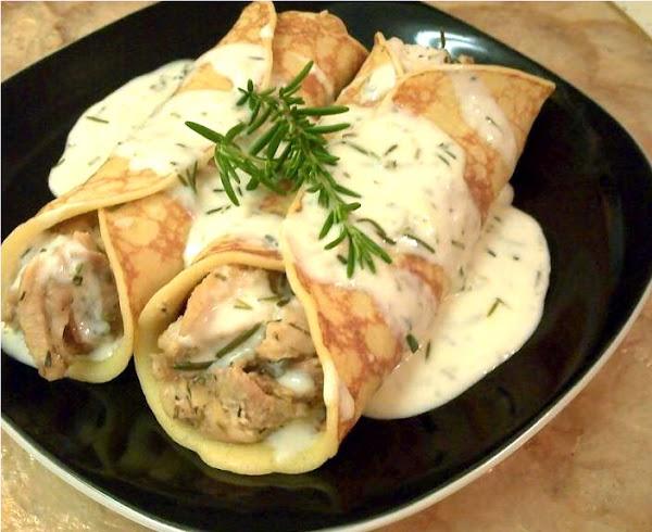 Pollo Con Champiñones en Salsa Bechamel de Pollo en Salsa Bechamel