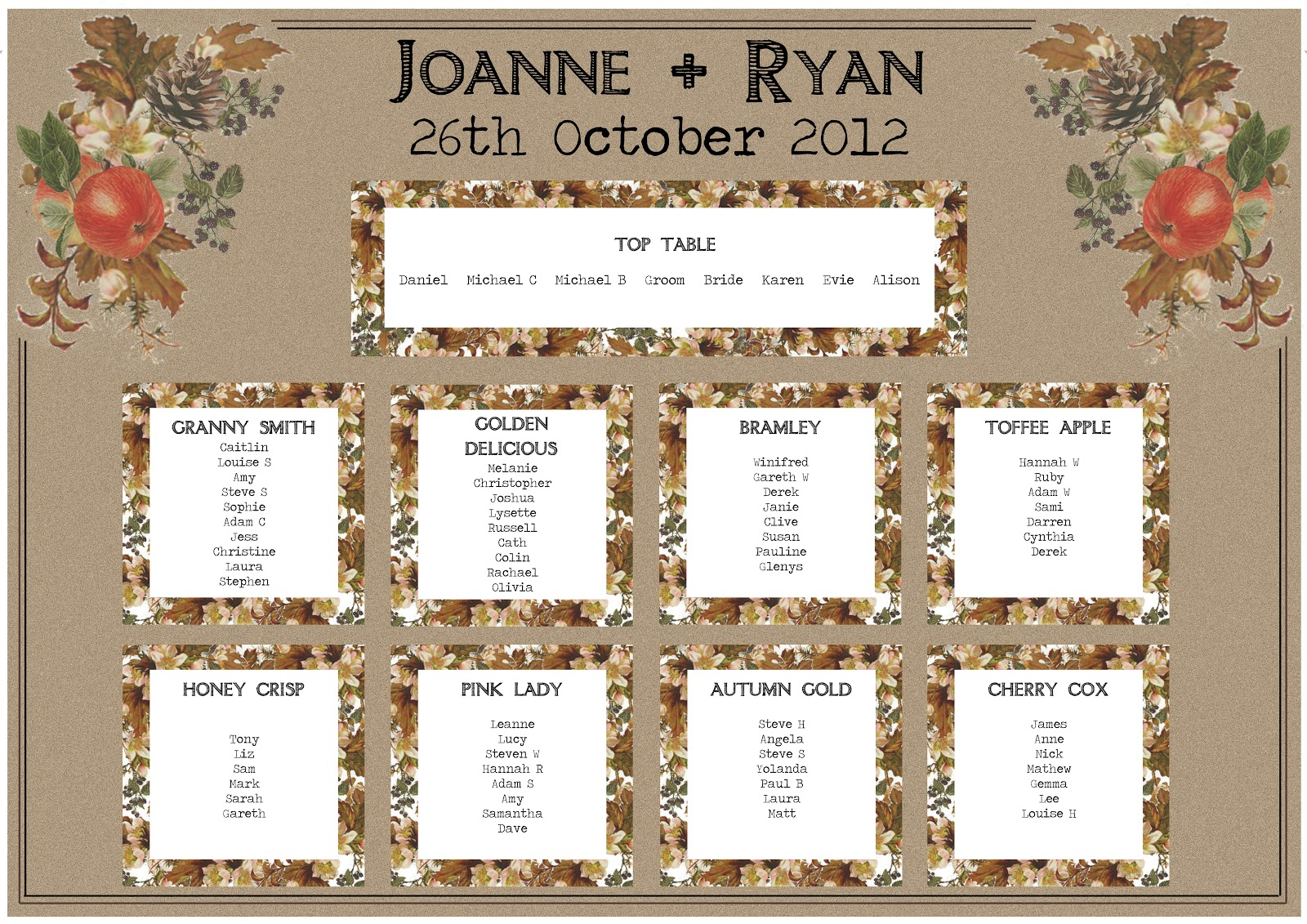 Knots and Kisses Wedding Stationery: October 2012