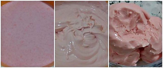 Preparación del helado fácil de malvavisco