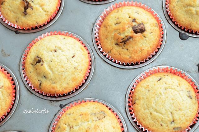 Muffins de Laranja e Chocolate