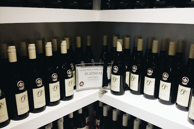 Wine sold at the 13th Winery