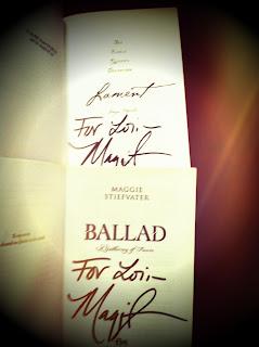 Signed Maggie Stiefvater books