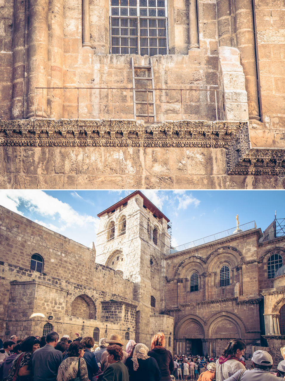 Grabeskirche, Jerusalem und Leiter am Fenster