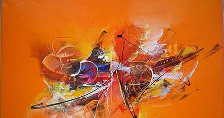contoh karya seni lukis abstraks | sanghiang