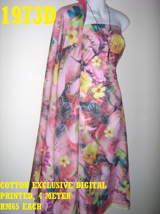 CDP 1973D: COTTON EXCLUSIVE DIGITAL PRINTED, 4 METER