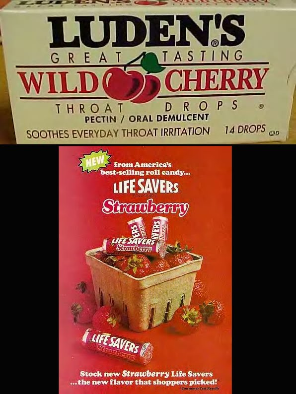 Luden's cough drops: the 'cherry Lifesavers' of cough drops..