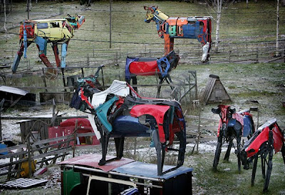 Giant Cows Made From Car Parts Seen On www.coolpicturegallery.us