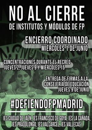 1 junio No al cierre de la FP Pública