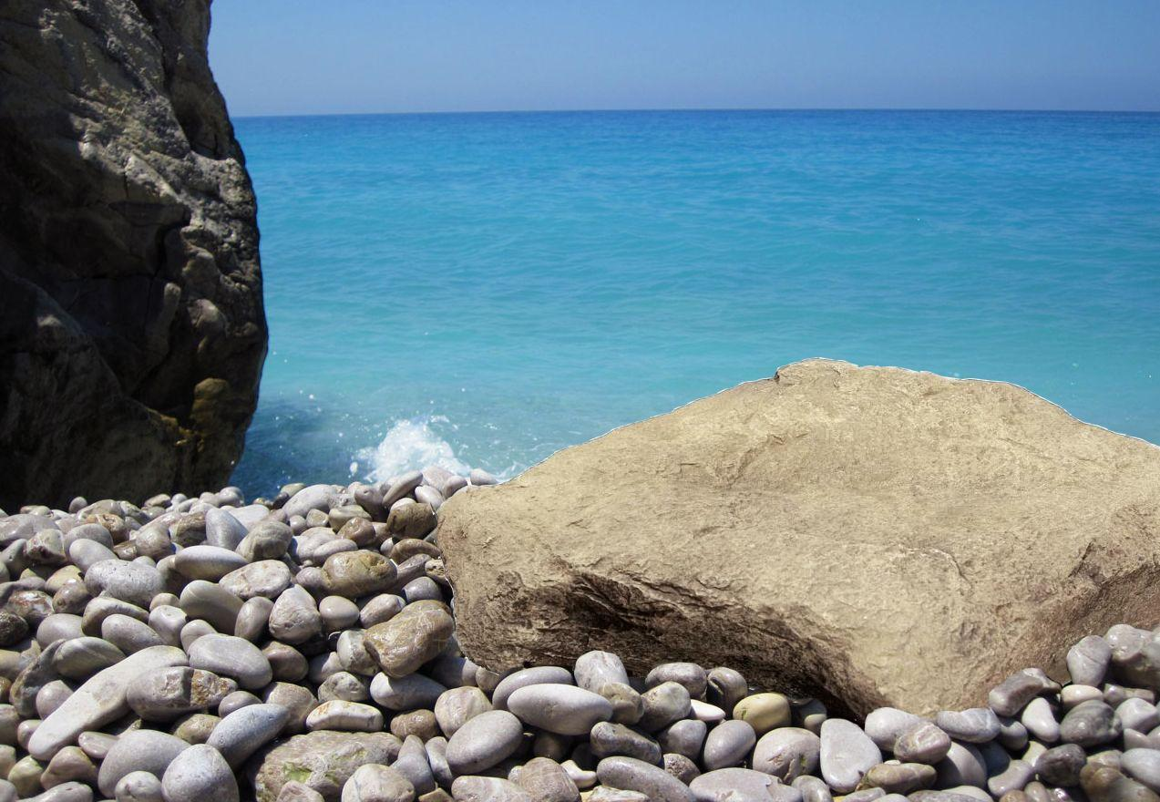 all about plants and planters: hire of rocks for beach scenes.