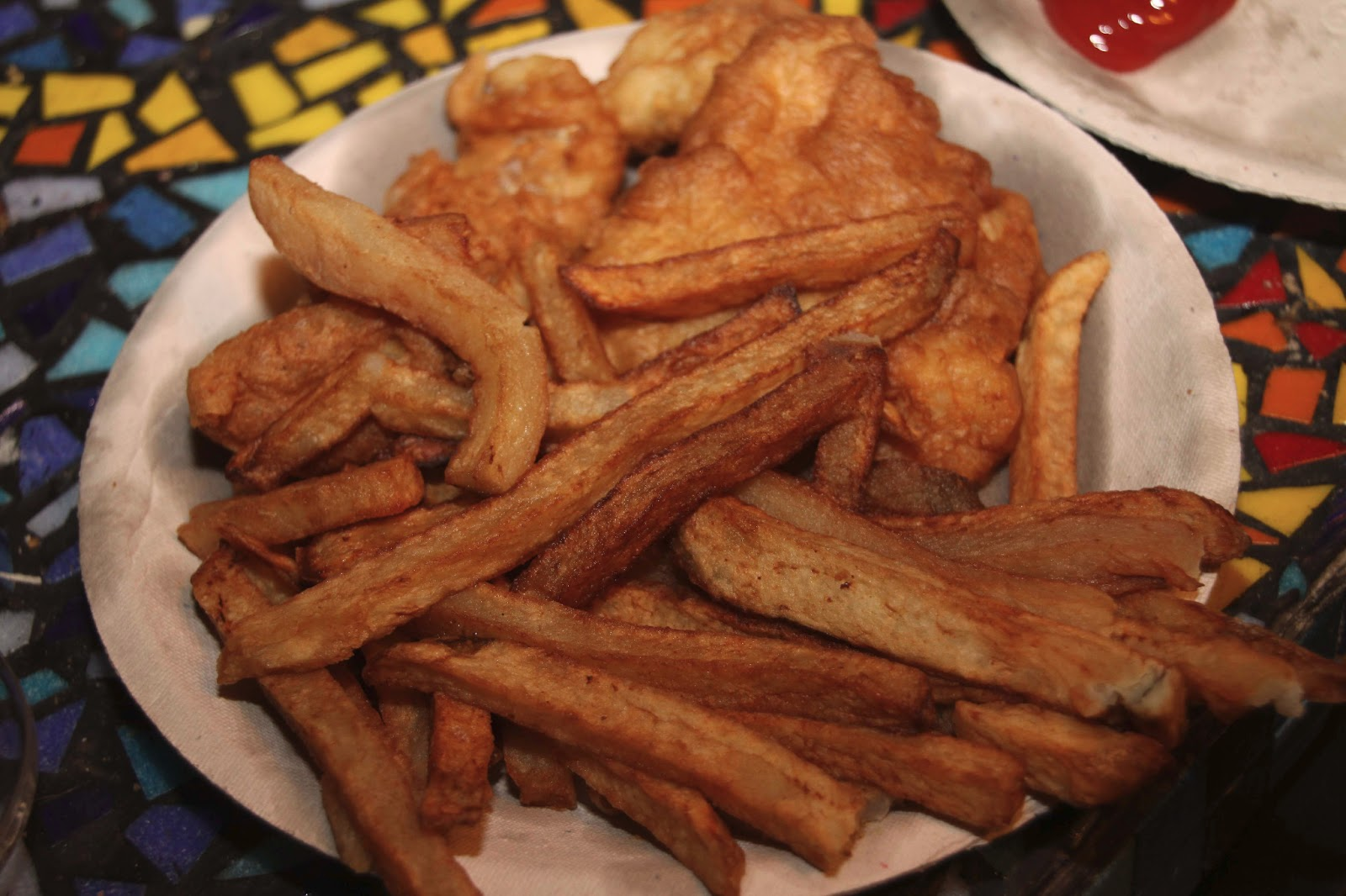 The orange door multi restaurant review three in one for Scotty s fish and chips