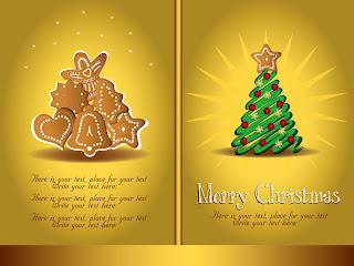 金色に輝くクリスマスの背景 beautiful christmas background vector イラスト素材4